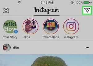 cách nhắn tin trên instagram bằng máy tính