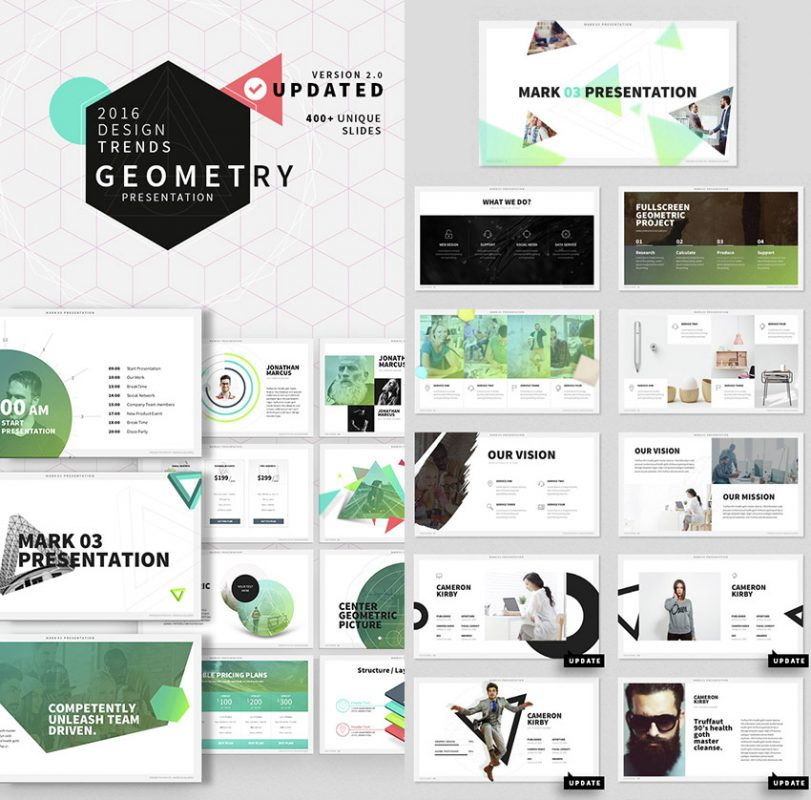 Mark 03 Stylish Ultra-Cool PowerPoint Template