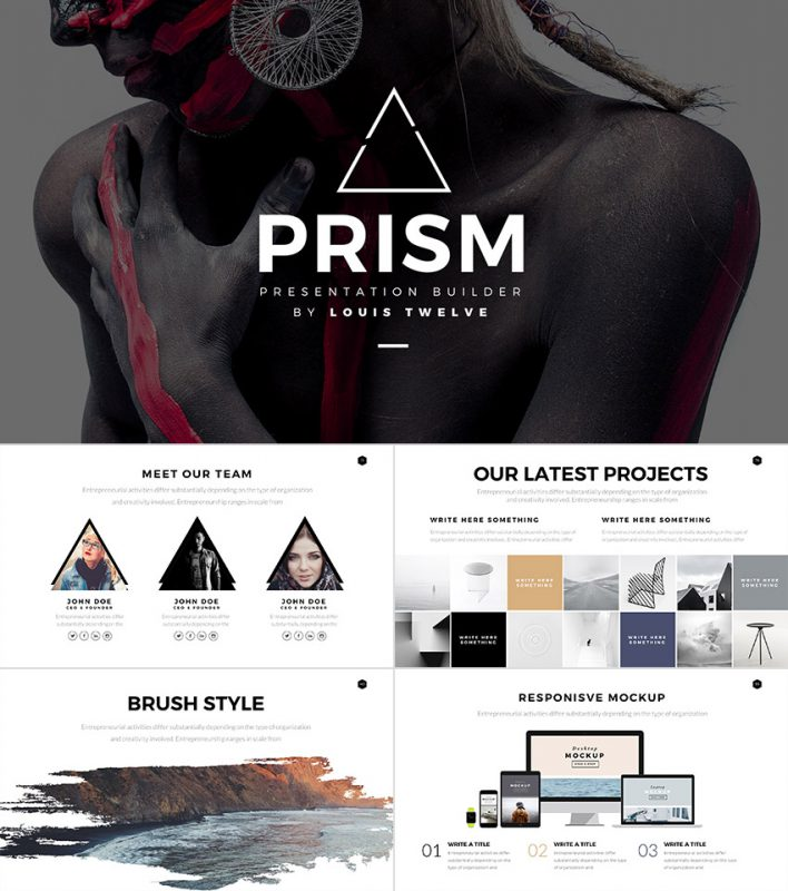 Prism Cool Style PowerPoint Template Builder Set