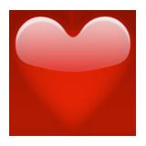 biểu tượng cảm xúc trái tim màu đỏ