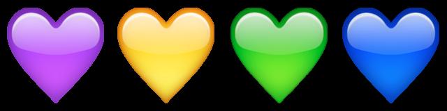 biểu tượng cảm xúc trái tim nhiều màu