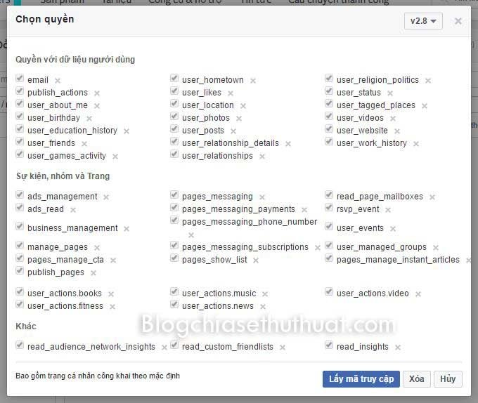 Hướng dẫn lấy Token Facebook nhanh nhất