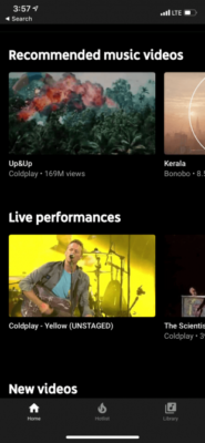 YouTube Music Home Page 310x671