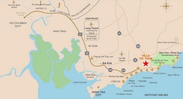 Những thuận lợi từ vị trí của dự án Hồ Tràm Complex