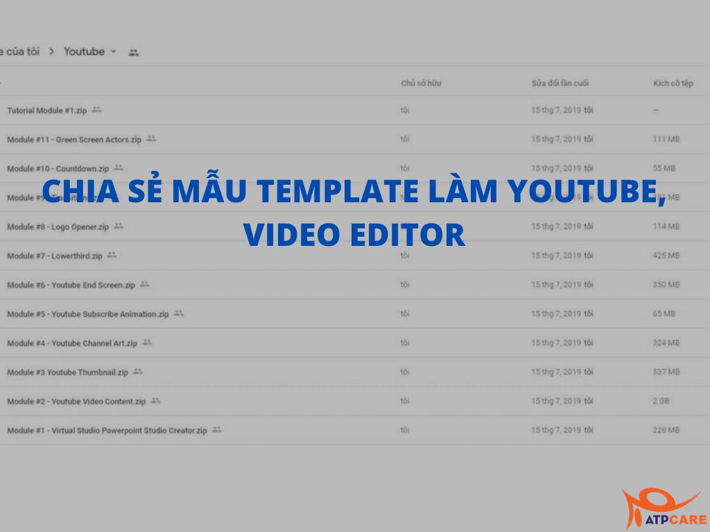 CHIA SẺ MẪU TEMPLATE LÀM YOUTUBE VIDEO EDITOR