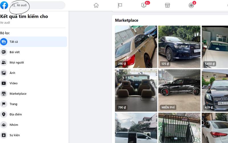 ban san pham cao cap tren facebook marketplace