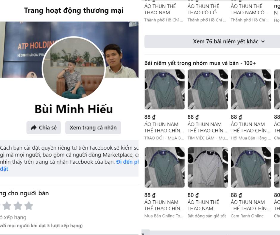 shop ca nhan tren facebook marketplace