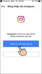 liên kết tài khoản facebook với instgram